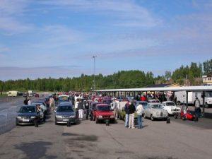 Funktionärer Saab Car Museum Festival